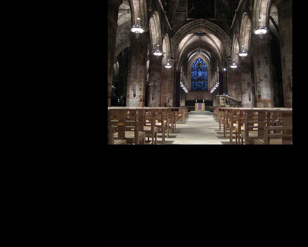 St Giles Cathedral: interior lighting